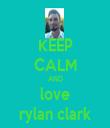 KEEP CALM AND love rylan clark - Personalised Tea Towel: Premium