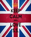 KEEP CALM AND LOVE S.S. - Personalised Tea Towel: Premium