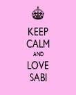 KEEP CALM AND LOVE SABI - Personalised Tea Towel: Premium