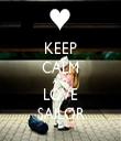 KEEP CALM AND LOVE SAILOR - Personalised Tea Towel: Premium