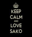 KEEP CALM AND LOVE SAKO - Personalised Tea Towel: Premium