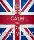 KEEP CALM AND LOVE SEBASTIAN VILLALOBOS - Personalised Tea Towel: Premium