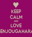 KEEP CALM AND LOVE SENJOUGAHARA - Personalised Tea Towel: Premium