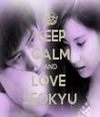 KEEP CALM AND LOVE  SEOKYU - Personalised Tea Towel: Premium