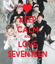 KEEP CALM AND LOVE SEVENTEEN - Personalised Tea Towel: Premium