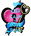 KEEP CALM AND LOVE SHAE - Personalised Tea Towel: Premium