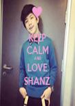 KEEP CALM AND LOVE SHANZ  - Personalised Tea Towel: Premium