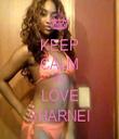 KEEP CALM AND LOVE SHARNEI - Personalised Tea Towel: Premium