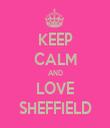 KEEP CALM AND LOVE SHEFFIELD - Personalised Tea Towel: Premium