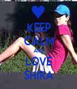 KEEP CALM AND LOVE SHIRA - Personalised Tea Towel: Premium