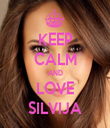 KEEP CALM AND LOVE SILVIJA - Personalised Tea Towel: Premium