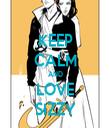KEEP CALM AND LOVE SIZZY - Personalised Tea Towel: Premium