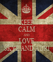 KEEP CALM AND LOVE SKYE AND ADRI - Personalised Tea Towel: Premium