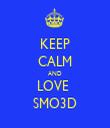 KEEP CALM AND LOVE  SMO3D - Personalised Tea Towel: Premium