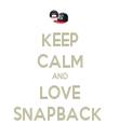 KEEP CALM AND LOVE SNAPBACK  - Personalised Tea Towel: Premium