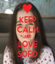 KEEP CALM AND LOVE SOFO - Personalised Tea Towel: Premium