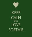 KEEP CALM AND LOVE SOFTAIR - Personalised Tea Towel: Premium