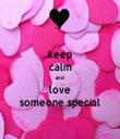 keep calm and love someone special - Personalised Tea Towel: Premium