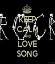 KEEP CALM AND LOVE SONG - Personalised Tea Towel: Premium