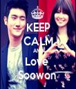 KEEP CALM AND Love  Soowon  - Personalised Tea Towel: Premium