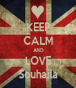 KEEP CALM AND LOVE Souhaila - Personalised Tea Towel: Premium