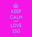 KEEP CALM AND LOVE SSG - Personalised Tea Towel: Premium