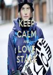 KEEP CALM AND LOVE STÅLE - Personalised Tea Towel: Premium
