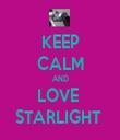 KEEP CALM AND LOVE  STARLIGHT  - Personalised Tea Towel: Premium
