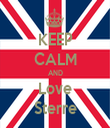 KEEP CALM AND Love Sterre - Personalised Tea Towel: Premium