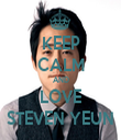 KEEP CALM AND LOVE STEVEN YEUN - Personalised Tea Towel: Premium