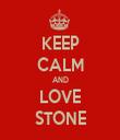 KEEP CALM AND LOVE STONE - Personalised Tea Towel: Premium