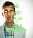 KEEP CALM AND LOVE STROMAE - Personalised Tea Towel: Premium