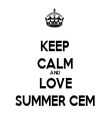 KEEP CALM AND LOVE SUMMER CEM - Personalised Tea Towel: Premium