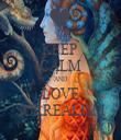 KEEP  CALM AND LOVE SURREALISM - Personalised Tea Towel: Premium