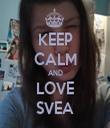 KEEP CALM AND LOVE SVEA - Personalised Tea Towel: Premium