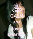 KEEP CALM AND love swarnim - Personalised Tea Towel: Premium
