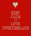 KEEP CALM AND LOVE SWEETZERLAND - Personalised Tea Towel: Premium