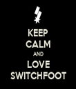 KEEP CALM AND LOVE SWITCHFOOT - Personalised Tea Towel: Premium