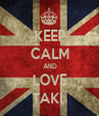 KEEP CALM AND LOVE TAKI  - Personalised Tea Towel: Premium