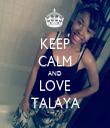 KEEP CALM AND LOVE TALAYA - Personalised Tea Towel: Premium