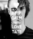 KEEP CALM AND LOVE TATE - Personalised Tea Towel: Premium