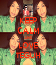KEEP CALM AND LOVE TEGUH - Personalised Tea Towel: Premium