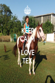 KEEP CALM AND LOVE TEX - Personalised Tea Towel: Premium