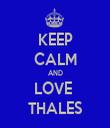 KEEP CALM AND LOVE  THALES - Personalised Tea Towel: Premium
