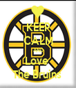 KEEP CALM AND Love  The Bruins  - Personalised Tea Towel: Premium