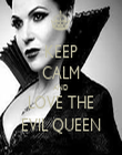 KEEP CALM AND LOVE THE EVIL QUEEN - Personalised Tea Towel: Premium