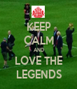 KEEP CALM AND LOVE THE LEGENDS - Personalised Tea Towel: Premium