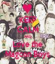 KEEP CALM AND Love the Magcon Boys - Personalised Tea Towel: Premium