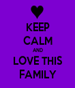 KEEP CALM AND LOVE THIS FAMILY - Personalised Tea Towel: Premium