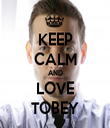 KEEP CALM AND LOVE TOBEY - Personalised Tea Towel: Premium